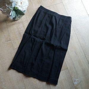 D&G Dolce & Gabbana Size 40 Black Pencil Skirt